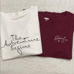 Women's Set of 2 T-shirts / lot of 2 / size XXL